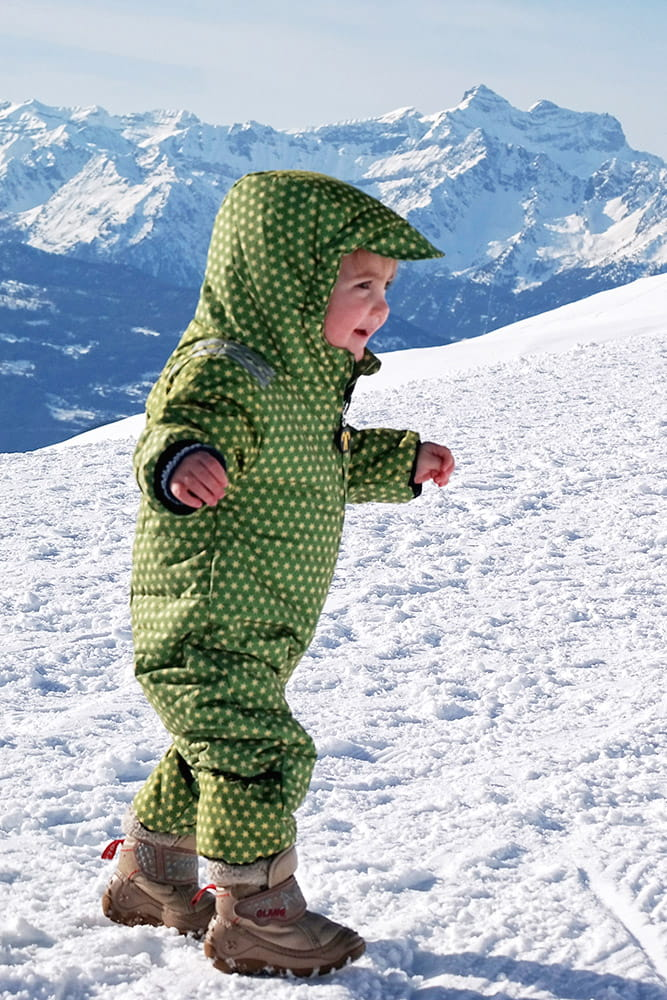 Kombinezon zimowy dla niemowląt Ducksday, funky green, rozmiar 68