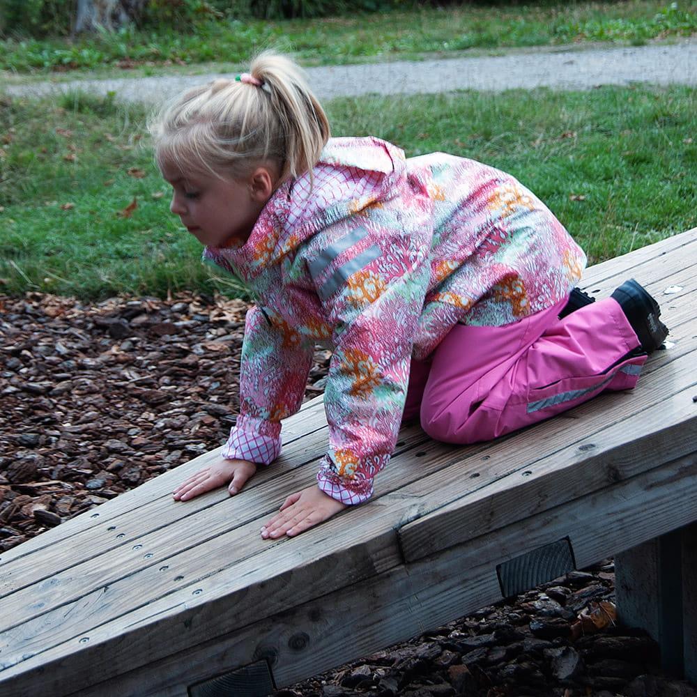 Kurtka przeciwdeszczowa dla dziewczynki, Milsyl, rozmiary 2-12 lat (92-152)