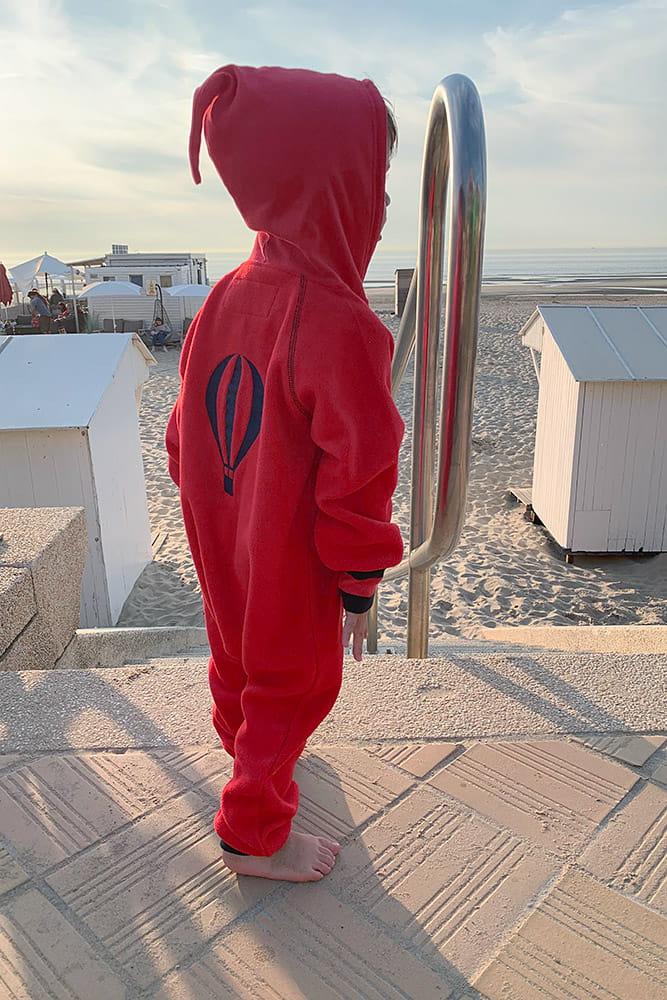 Kombinezon z polaru dla dziecka Ducksday, Red/Blue, rozmiary 74-116 (6 m-cy - 6 lat)