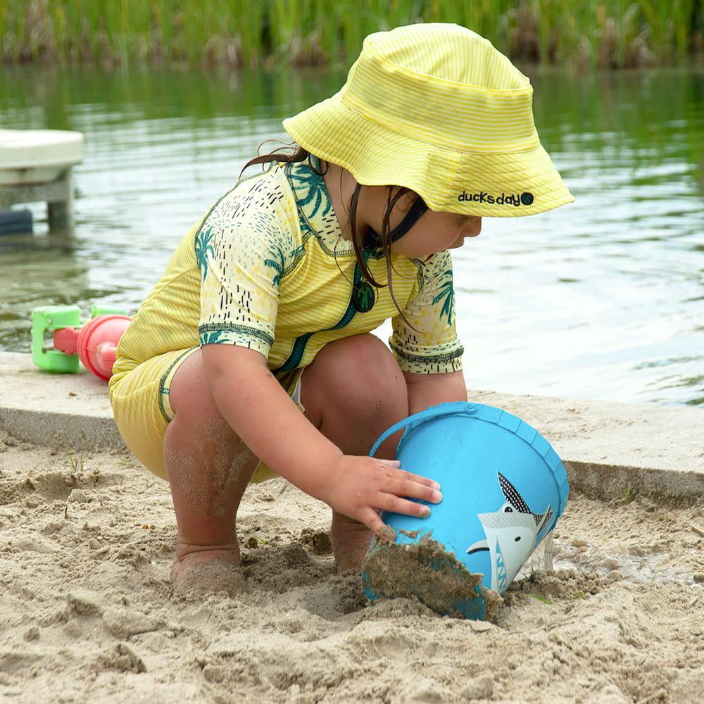 Jednoczęściowy strój plażowo-kąpielowy dla niemowlaka filtr UV 50+, Cala, 2-3 lata (92-98)