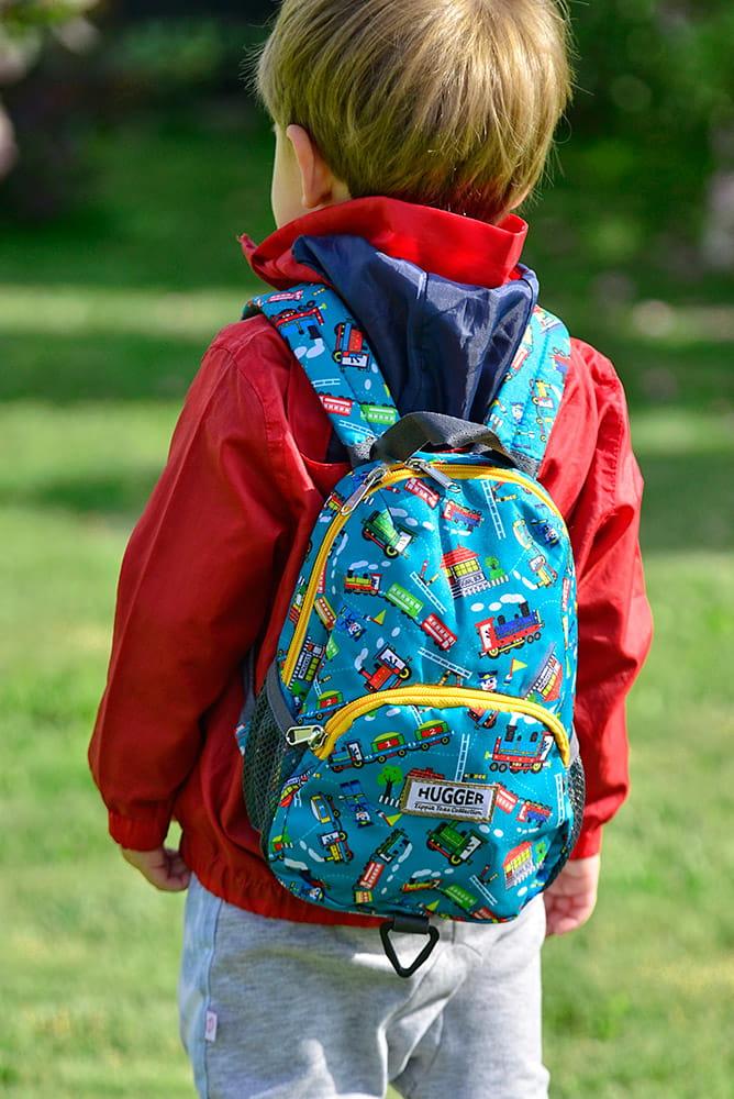 Plecaczek dla dzieci Hugger, Totty Tripper Small, wiek 1-3 lat, wzór Choo Choo