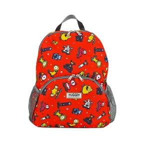 Plecak dla dziecka Hugger, Totty Tripper Large, wiek 5-9+ lat, wzór Monster Skaters Red