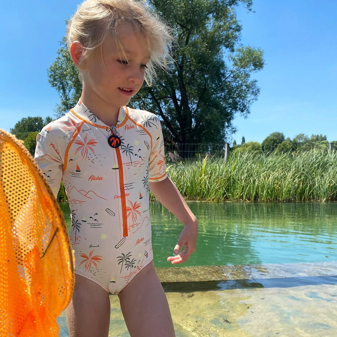 Kostium plażowo-kąpielowy dla dziewczynki filtr UV 50+, Waikiki, 3-4 lata (92-98)