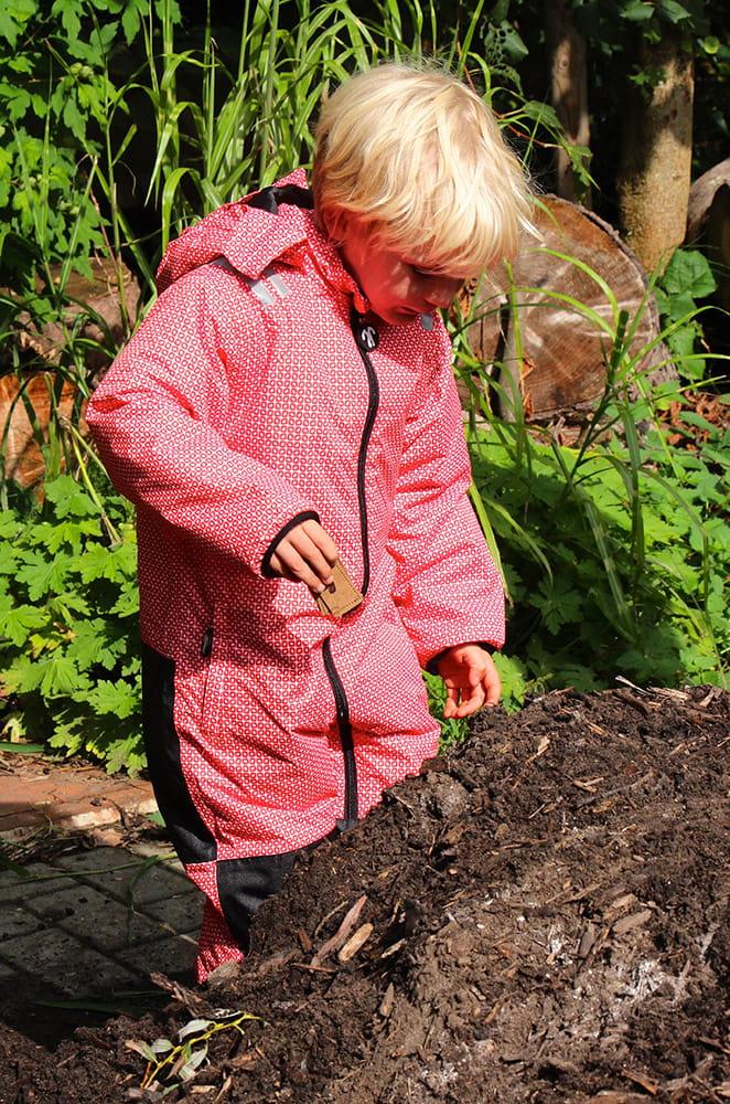 Kombinezon zimowy dla dziecka Ducksday, funky red, rozmiar 104-110